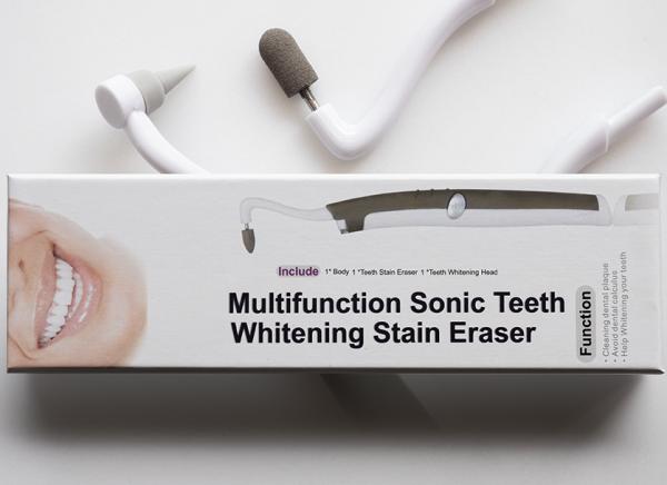 Sonic teeth whitening tool