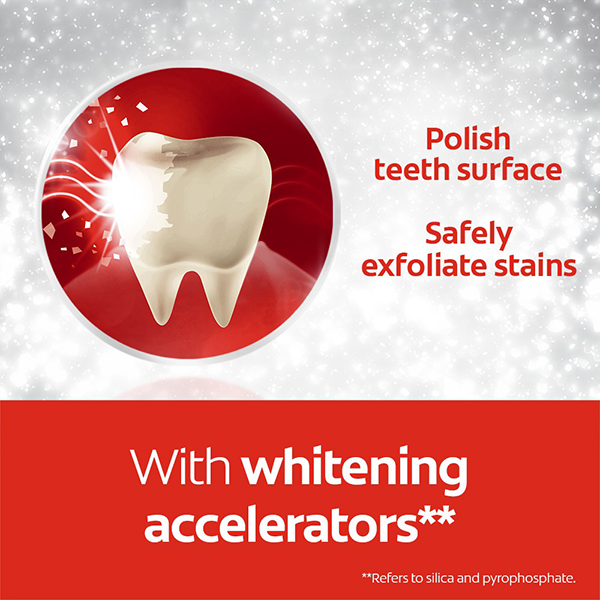 Colgate Optic whitening accelerators